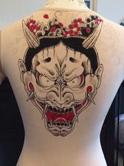 yakuza majima cosplay wip (eternal-shiva) Tags: yakuza majimagoro goro majima ryugagotoku hannya tattoo cosplay painting wip