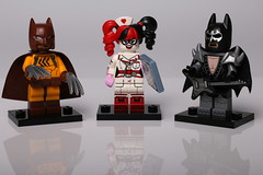 Lego Batman Movie (Crisp-13) Tags: catman glam metal batman harley quinn nurse outfit uniform arkham asylum kiss electric guitar lego minifigure