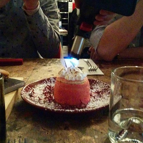 There was some torching of our zuppa inglese too!