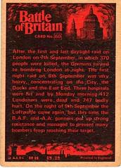 Card 60 (Rear) (Pat Linsley) Tags: bubblegum battleofbritain