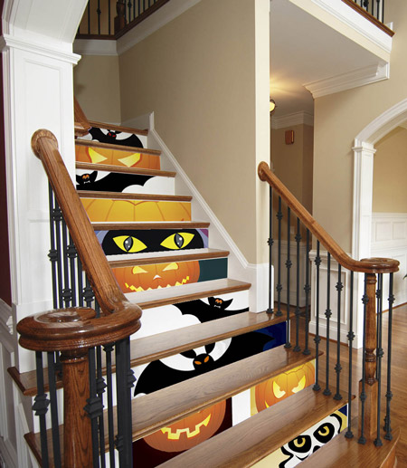 Decoración escaleras Halloween