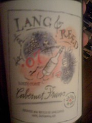 2007 Lang & Reed North Coast Cabernet Franc