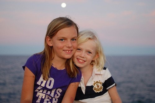 Mairen, Skylar, and a full moon