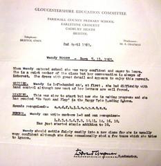 1969 School Report.  Age 5