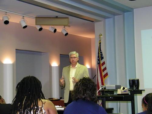 Mark presenting