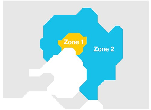 Completely pointless map from the Myki web site