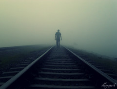 Towards the unknown.....(FP) (chhayapath :-)) Tags: life morning mist home misty fog rural dawn village walk rail explore unknown frontpage bangladesh towards bangla railline bbaria