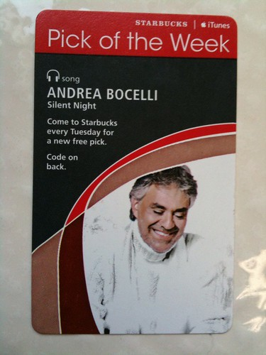Starbucks iTunes Pick of the Week - Andrea Bocelli - Silent Night #fb