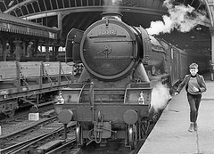 Class A3 no.60047 'Donovan'. York. 13 August 1962 (ricsrailpics) Tags: york uk bw pacific steam 1962 gresley classa3 exlner