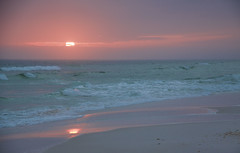 Come - Follow Me To The Beach (Mona Hura) Tags: pink blue sunset sea cloud sun shells reflection beach gulfofmexico water clouds mexico sand waves gulf florida pastel shell wave foam pensacola pensacolabeach 7035