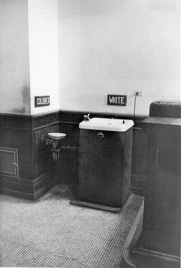 Drinking fountains in the County Courthouse in Albany, Georgia in 1962. Photo by Daniel Lyon.