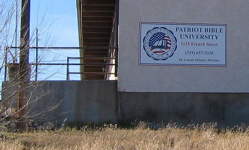 "Patriot ""University"" Sign"