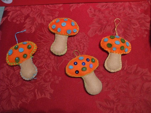 Toadstool Ornaments