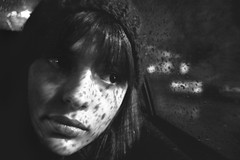 Life Is Real - 94/365 (Mademoiselle Julia) Tags: portrait face rain monochromatic gross
