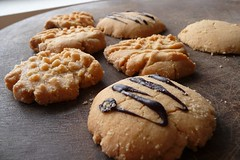 Abstract Tiger Peanut Butter Cookies
