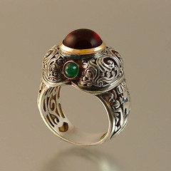 The COLOR OF POMEGRANATE ring (wingedlion) Tags: silver gold jewelry garnet wingedlion designerjewelry szjewelrydesign