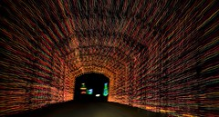 Tunel of Lights (sabroso10) Tags: road christmas xmas holiday festival night dark season lights nikon tunel belton d40