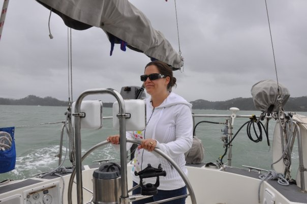Ali at the helm