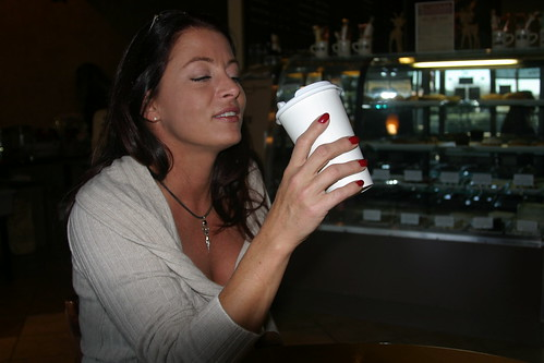 Stephanie Britt Enjoys a Cup of French Press Coffee with XPress Lid