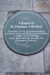 Photo of William D'Albini green plaque