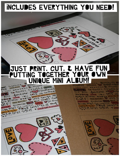 I LOVE YOU! Printable Mini Album Kit