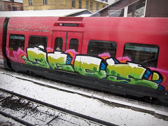 Eggs (phluids) Tags: train copenhagen denmark graffiti graf danish eggs 2010 valby
