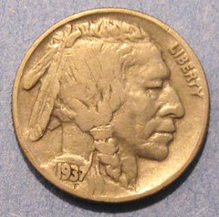 Ira Reed reeded-edge nickel? (obverse)