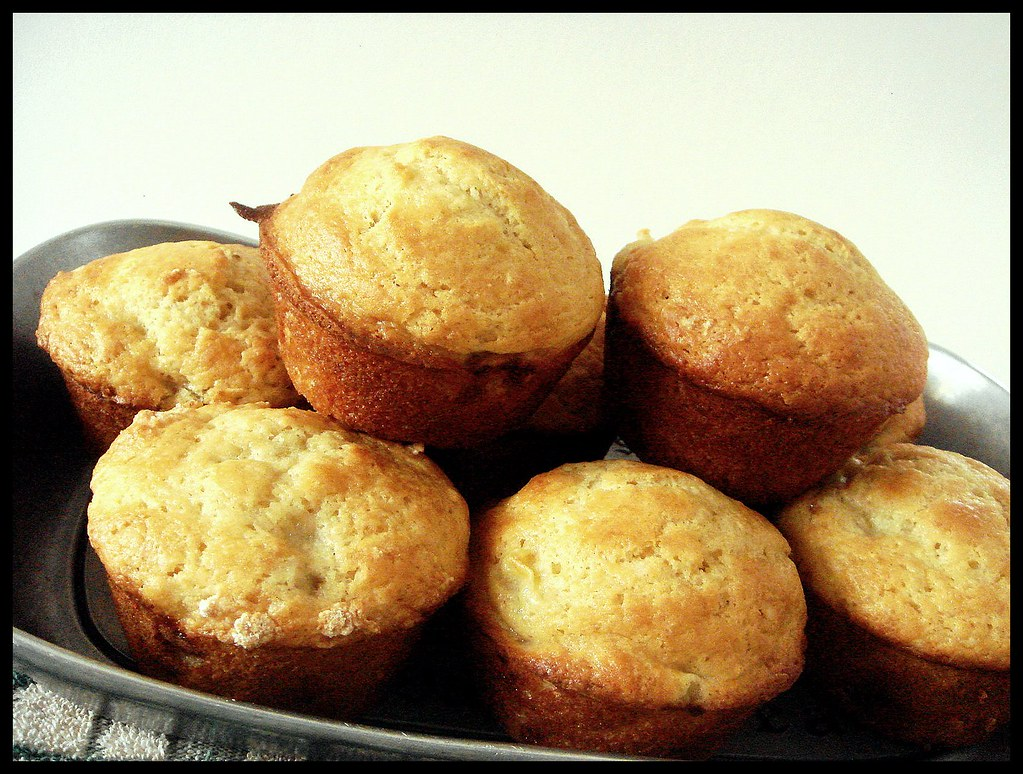 big beautiful banana muffins | the Running Foodie