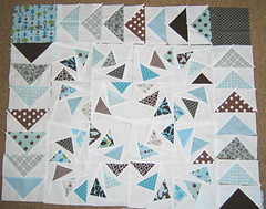 Geese blocks (sparklygreenknickers) Tags: quilt flyinggeese quiltblocks thebeehive quiltingbee circleofgeese sparklygreenknickers