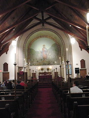 The sanctuary of Faith Lutheran Church