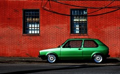 Red Brick - Green Car