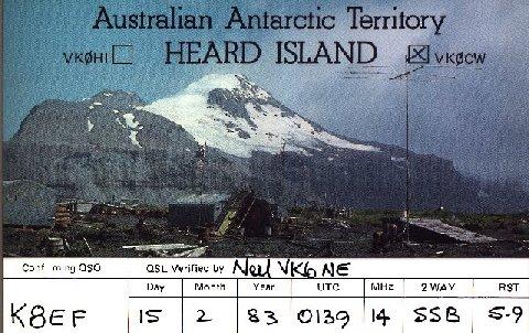 A rare QSL card