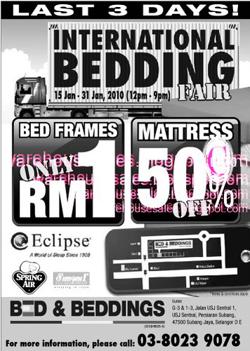 15 - 31 Jan: International Bedding Fair