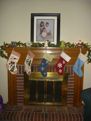 Stockings were hung by the chimney with care