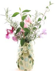 furoshiki kavanoz vazo