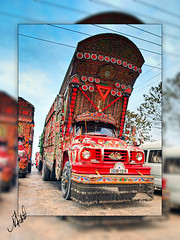 Culture on Wheels (Muhammad Fahad Raza) Tags: pakistan colors beautiful truck bedford asia colours culture islamabad truckers artonwheels rawalpindi overcastday pakistanitruck pakistaniculture decoratedtruck tj1090 goodstransport decoratedvehicle bedfordtj1090 colouronwheels cultureonwheels lovelytruck decoratedgoodstransport ornamentedvehicle