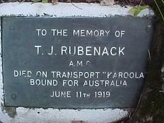 Rubenack memorial (TreeMappa) Tags: treeline eumundi treemappa