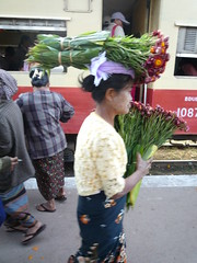 Blumenverkaueferin (frischifresh) Tags: trekking myanmar kalaw trainstationmarket