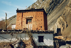 Gompa, Kagbeni Village, Mustang, Nepal (east med wanderer) Tags: nepal mountains trekking trek village buddhist religion buddhism mustang himalayas gompa february2002 kagbeni theindiatree worldtrekker