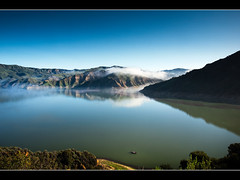 Fishing (Muzzlehatch) Tags: california county lake submitted clouds ventura 2010 piru getchkb inttag