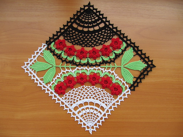 colorful crocheted tablecloths