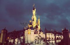 DisneyLand.. (- M7D . S h R a T y) Tags: paris france cold night disneyland wordsbyme allrightsreserved c disneylandparis