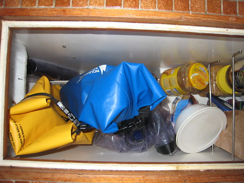 Fridge with dry bags