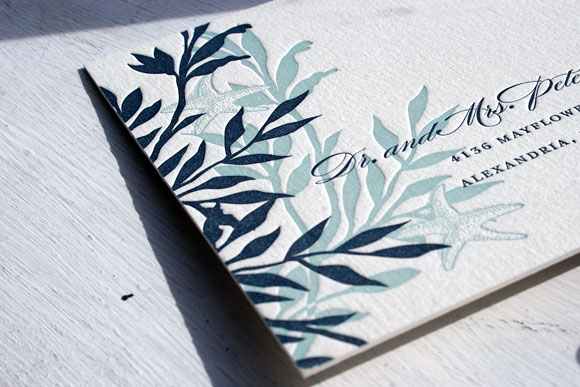 Engadine Letterpress Wedding Invitation by Smock