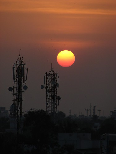 Sunset over Chennai
