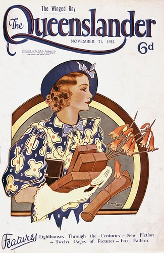 Illustrated front cover from The Queenslander, November 21, 1935