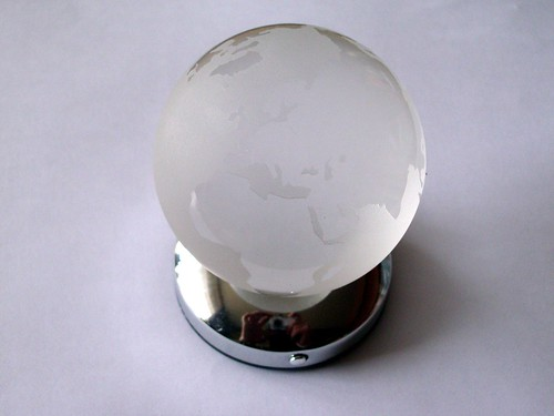 Illuminated glass globe