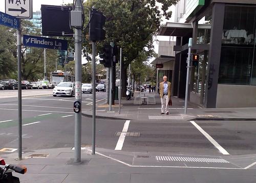 Spring St and Flinders Lane