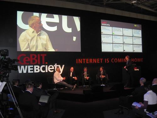 Webciety Podium auf der CeBIT 2010