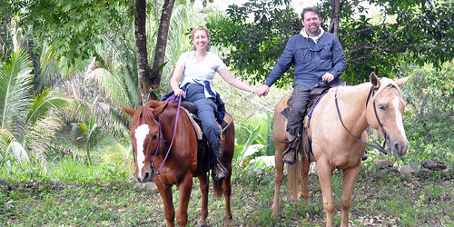 Kris and J.D. on Horseback